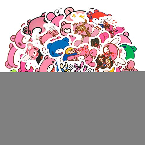 YCYY Pink Angry Bear 50 Posted A Paper Diary Of A Suitcase Computer Waterproof Sticker Color Helmet Sticker