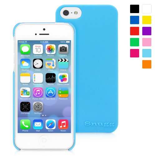 Snugg iPhone 5 Case Cover Ultra Thin Skin Case (Sky Blue) - Ultra Slim Profile, Non Slip Material, Protective, Soft to the Touch for the new iPhone