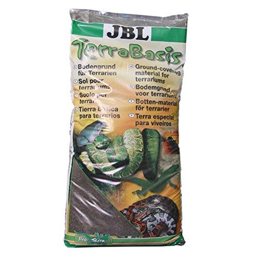 JBL TerraBasis Bodengrund für Regenwaldterrarien, Spezialerde ohne Düngezusatz, 20 l, 71012