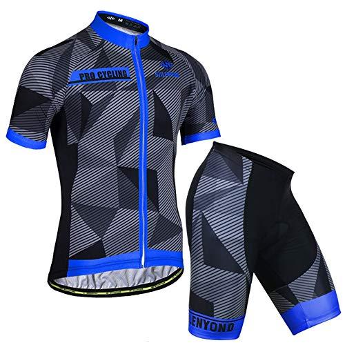 Bike Suit Hombres Mujer Ropa Ciclismo Maillot Manga Corta Pantalones Cortos con...