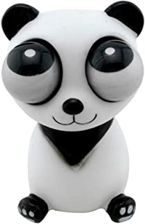 Cianowegy Popping Out Eyes Squeeze Panda Doll Toys Stress Relief Decoration Toy Vent Fun Novelty Fidget Panda Toy