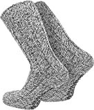 normani 2 Paar Antirutsch Norweger Socken mit ABS Sohle Farbe Grau Größe 43/46