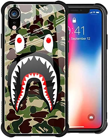 iPhone XR Case Street Fashion Cool Designer Slim Tempered Glass Back Cover Soft Silicone TPU product image