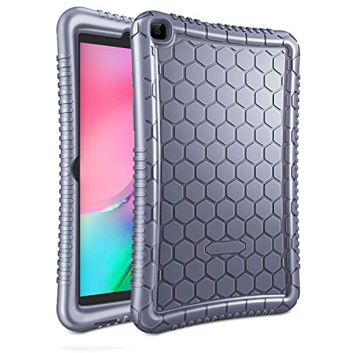 FINTIE Silicone Case for Samsung Galaxy Tab A8 2019 8 Inch Tablet (SM-T290 / SM-T295), [Honey Comb Series] Soft Kids Friendly Lightweight Shock Proof Protective Cover - Lavender Grey