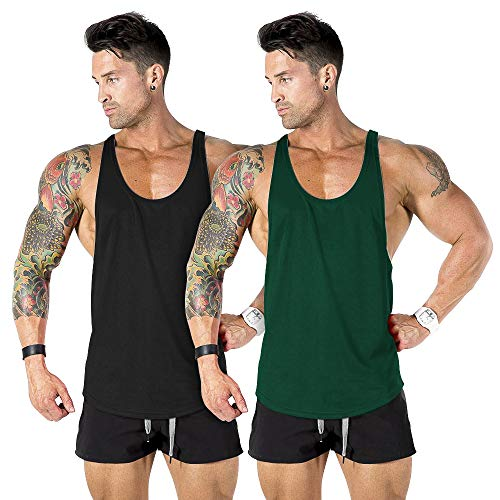 Best green mens workout and training tanks