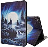 iPad Mini 5 Case, Mini 4 Case, iPad Mini 1/2/3 Case, PU Leather Magnetic Stand Smart Cover with Auto Sleep Wake Case for iPad Mini 5th/4th Gen 7.9 Inch, Wolf Roar