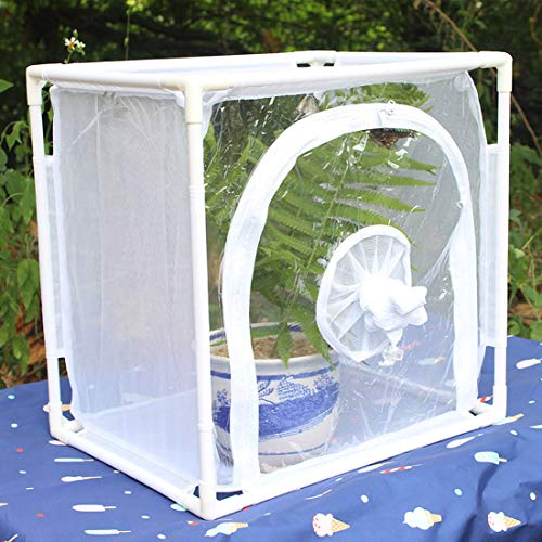 MYYINGELE ButterflyCollapsible Butterfly Habitat Butterfly Cage Insect Net Terrarium Pop-up for Kids Insect and Butterfly Habitat Cage Terrarium for Kids, S