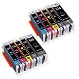 LxTek Compatible Cartouches d'encre pour Canon 525 526 PGI-525 CLI-526 pour Canon...