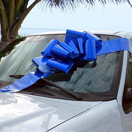 """GiftWrap Etc. Großer königsblauer Auto-Bogen - Großes Geschenkband, voll montiert, 25\""""breit, Weihnachten, Geburtstag, Schulabschluss"""