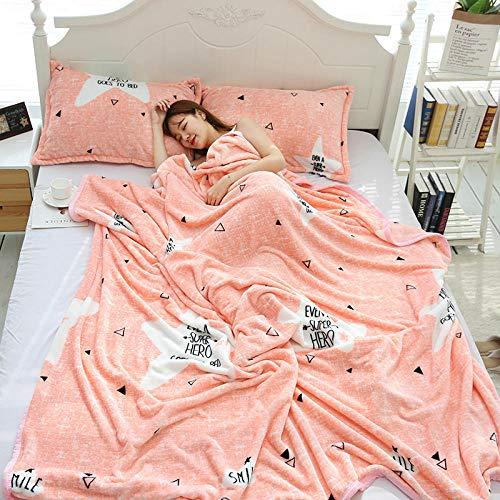 Simmia home Manta Transpirable,Manta de Rodilla de Franela con Acolchado para niños, Diamante Rosa, 230X250CM