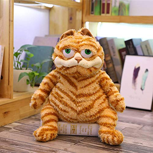 Silence Yellow Fat Cat Garfield Plüschtier Weiche Kuscheltier Kinder Kindergeburtstag Baby Beschwichtigen Doll-30Cm_Orange