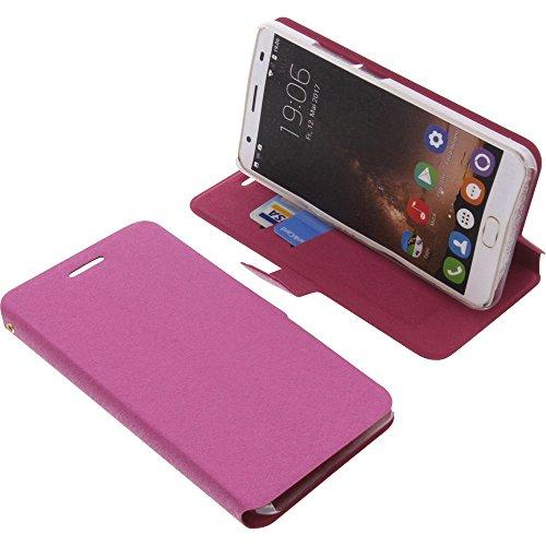 foto-kontor Tasche für Oukitel K6000 Plus Book Style Ständer Schutz Hülle Buch pink