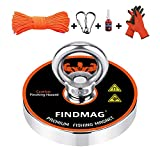 FINDMAG 1500 LBS Fishing Magnets, Premium Magnet Fishing Kit for Retrieving in River and Magnet Fishing - 4.72 inch (120 mm) Diameter
