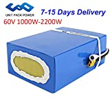 UPP Ebike Battery 60V 20AH Li-ion Battery with Charger, 50A BMS Protection for Electric Bike, Scooter, Go-Kart 2200W 2000W 1500W Motor