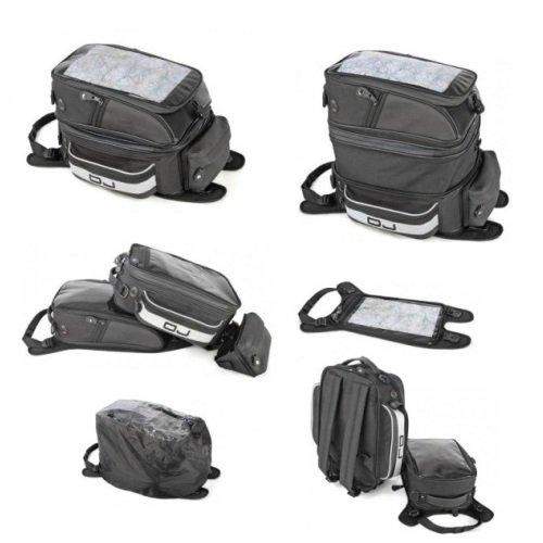 Voor sporttas OJ M012 tanktas voor motorfiets, trolley, Tris, universele bevestiging met riem