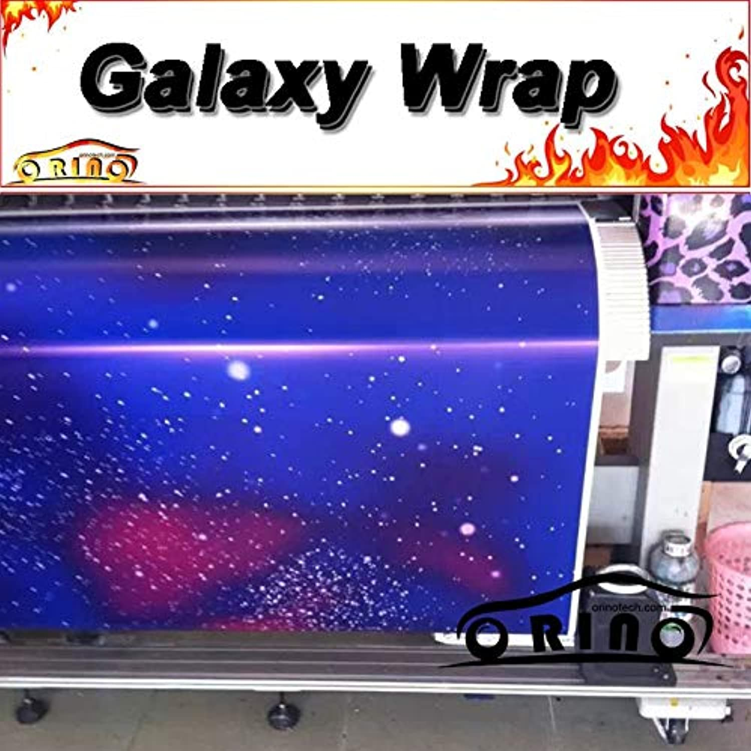 Glossy bluee Galaxy Starry Sticker Bomb Vinyl Film Motorcycle Car Wraps Sticker Film with Air Bubble Free  (Size  152CMx15M 5X49FT)