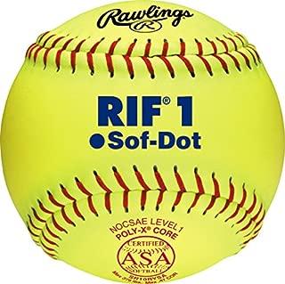 Rawlings RIF Soft- Dot ASA League Fastpitch Softballs, 12 Count, SR10RYSA