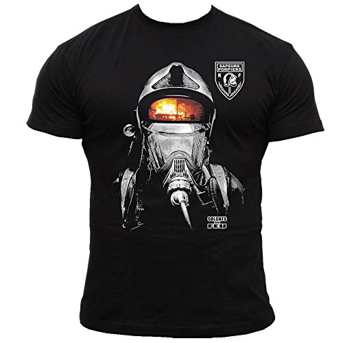 "Rescue Point ""Soldats du feu"" Herren-T-Shirt KF13FR, schwarz, M"