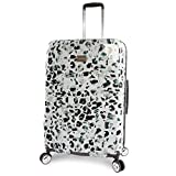 BEBE Women's Luggage Abigail 29' Hardside Check in Spinner, Winter Leopard, One Size