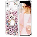 Caka iPhone XR Case, iPhone XR Floral Glitter Case Flower Pattern Series Sparkle Fashion Bling Luxury Flowing Liquid Floating Cute Glitter Soft TPU Clear Case for iPhone XR (Owl)