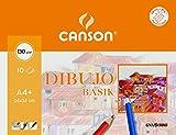 Canson Dibujo Basik Liso, Minipack A4+ (24 x 32 cm) 10 Hojas 130 g