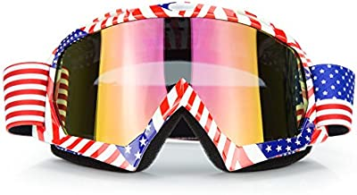 JAMIEWIN Motocross Motorcycle Goggles Motobike Riding Glasses and Dirt Bike ATV Downhill Goggles Mx Goggle Glasses for Adult and Youth (C61)