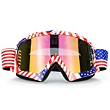Motocross Motorcycle Goggles Motobike Riding Glasses and Dirt Bike ATV Downhill goggles Mx Goggle Glasses for Adult and Youth (C61)
