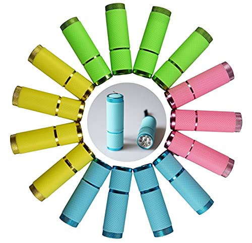15 pack Kids Torch Birthday Party Favors, Functional Flashlights, Girls Boys Goodie bag Thank you bulk party gift bag fillers Flash lights, Classroom Prizes, School Supplies