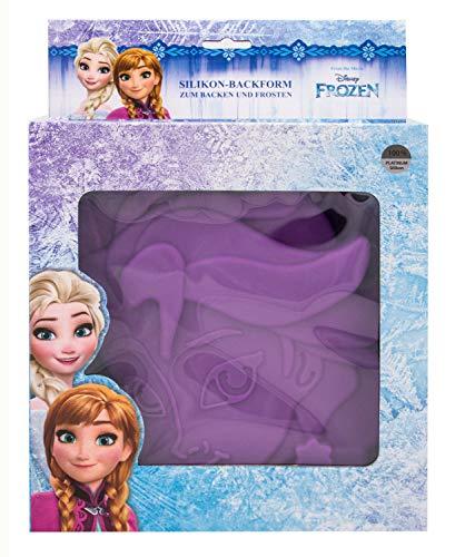 POS 28251 - Silikon Backform Disney Frozen Elsa, ca. 23 x 26 x 5 cm groß, 100 Prozent lebensmittelechtes Platin-Silikon, hitze- und kältebeständig von 230° bis -60°C, Spülmaschinengeeignet