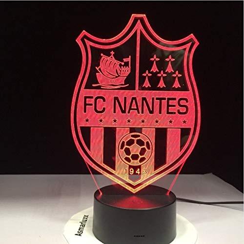 3D New England Patriots Logo Collection Football Casque Visuel Lampe Home Decor LED Lampe De Table Veilleuse