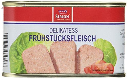 Werner Simon Frühstücksfleisch 200g l leckeres Schweinefleisch in der praktischen recycelbaren Konserve I köstliche Kombination aus Schweinefleisch mit frischen Kräutern - Qualität die schmeckt