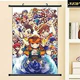 KWELJW Inazuma Eleven Anime Poster De Personaje Pinturas Colgantes Wall Art Fabric Poster 40 X 60 CM B