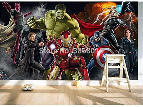Papel pintado decorativo para pared, pasillo, sala de estar, dormitorio, mural de fondo - The Avengers Superhero Spider-Man Hulk Thor Iron Man Wallpaper