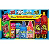 Bazooka Candy Brands Lollipop Variety Pack w/ Assorted Flavors of Ring Pop, Push Pop, Baby Bottle Pop, and Juicy Drop Pop (18 Count Box)