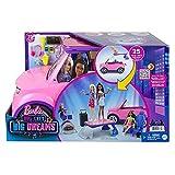 Barbie Dreamhouse Coche musical rosa con purpurina, vehículo de juguete para muñecas, regalo para niñas y niños +3 años (Mattel GYJ25)