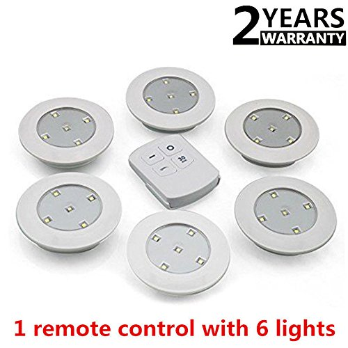 Zantec 6pcs LED Drahtlose Küchenarbeitsplatte Unter Schrank Schränke Beleuchtung Drahtlose Fernbedienung Touch Light