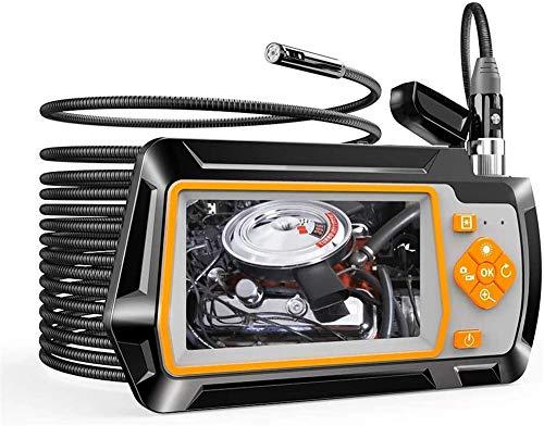 YUKM 5M Hard Draht 5,5 Mm Dual-Linsen-Endoskop-Kamera Mit 4,3-Zoll-IPS-LCD-Bildschirm, 6 LED-High-Definition-Inspektionskamera, Verwendet Für CAR-Abwasserinspektion
