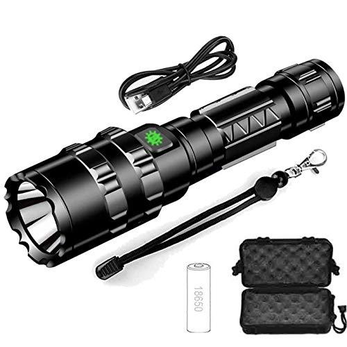 Lampe de poche à lumière forte en alliage d'aluminium USB rechargeable extérieur étanche L2 lampe de poche LED haute puissance