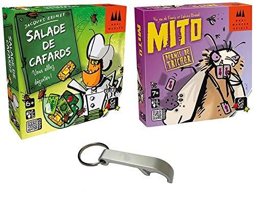 Set mit 2 Spielen: Mito + Kakerlaken Salat + Flaschenöffner Blumie