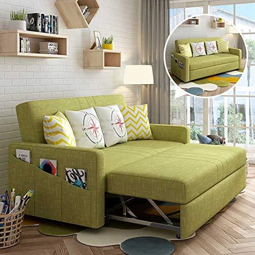 RSTJ-Sjcw Luxus zeitgenössischer konvertierbarer Sofa Couch schlafleder, Stoff gepolstertes Schlafsofa mit Ausziehbett und großem Stauraum, Protable Faule Couch Home Wohnzimmermöbel,B,2.05m