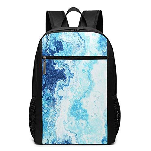 School Backpack Artistic Elegant Azure, College Book Bag Business Travel Daypack Casual Rucksack for Men Women Teenagers Girl Boy