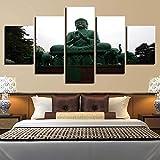 WZXYX Photo Image Artistique Photographie Image Déco d'art Murale Accueil Stickers Muraux Paysage Mural Statue De Bouddha Décoration Religieuse Toile Polygraphe
