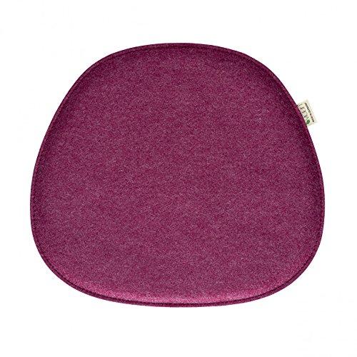 Violan Sitzkissen für Eames Side Chair - 40,5 x 36,5 cm, h 1,8 cm - Berry