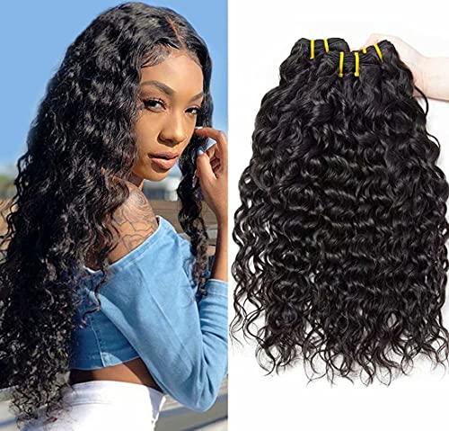 10 12 14 Zoll Human Hair Bundles 9A Brazilian Hair Bundles Water Wave Virgin Human Hair Weave Bundles Brasilianische Wasserwelle Menschliche Haare 3 Bündel Natürliche Schwarze Farbe