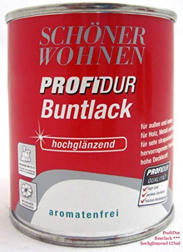 Profidur 125 ml Buntlack RAL 7016 Anthrazitgrau Hochglänzend Schöner Wohnen