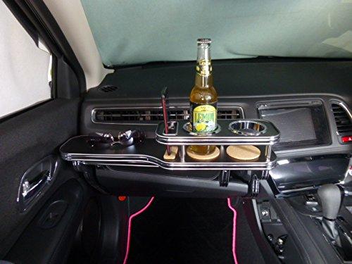 数量限定 ヴェゼル フロントテーブル レザーブラック 携帯ホルダー助手席側 ブラックフルメッキ