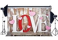 GooEoo 8x6ftバレンタインデーの背景恋人の縞模様木の板蝶結婚式ビニール写真の背景ベビーシャワー家族のパーティーの誕生日の背景ベビーシャワーの装飾ビニール素材