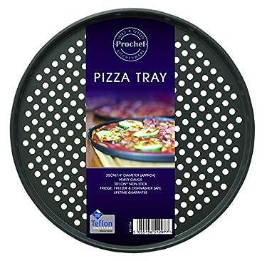 ProChef 14-inch Teflon Pizza Tray, Graphite by