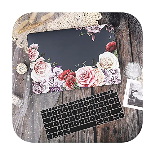 Funda de mármol para MacBook Air Pro Retina 11 12 13.3 nuevo Mac Book 13 15 Touch Bar 2020 A2289 A2338 A2337M1 A2179+cubierta de teclado-X042a-A1932 2019 2018