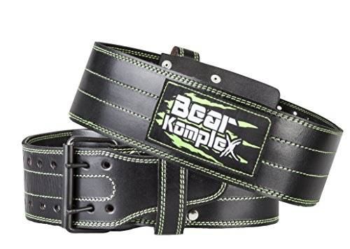 Bear KompleX Genuine Leather Adjustable Weightlifting Belt, Protection and Support for Back and Core During At-Home Workouts, Crossfit Training, Olympic Athletes, and Powerlifting, 5 Millimeters Thick
